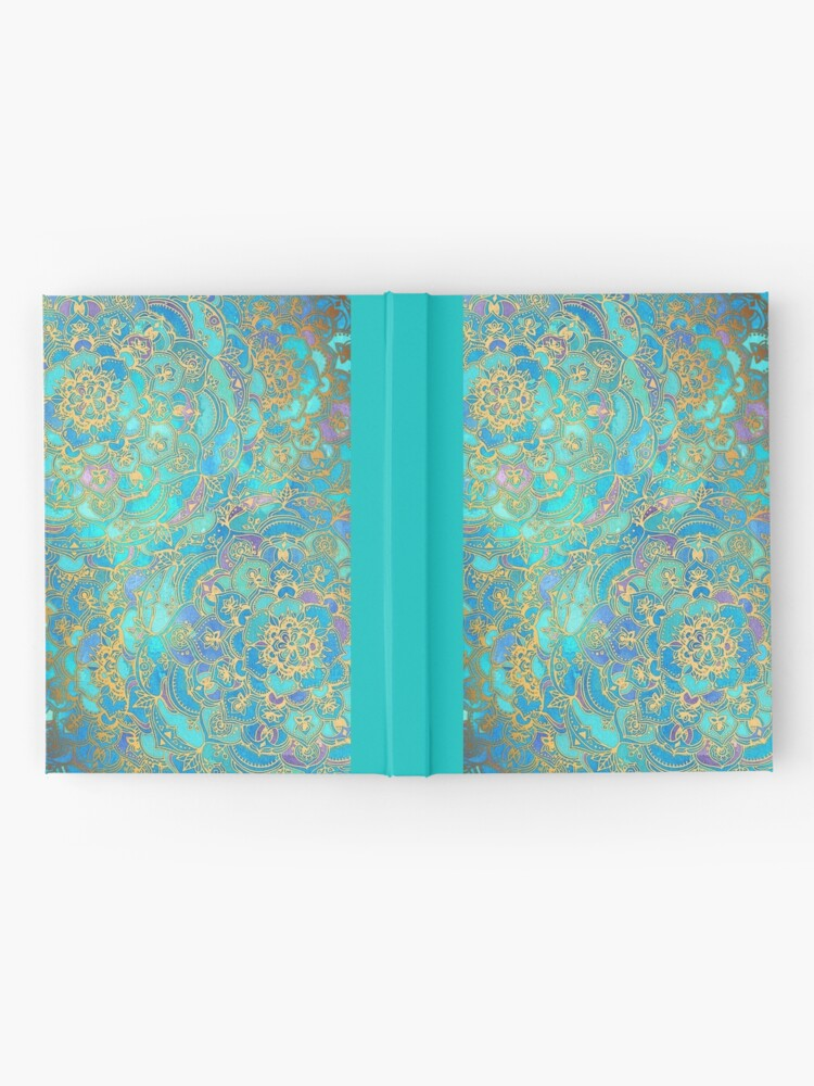 Alternate view of Sapphire & Jade Stained Glass Mandalas Hardcover Journal