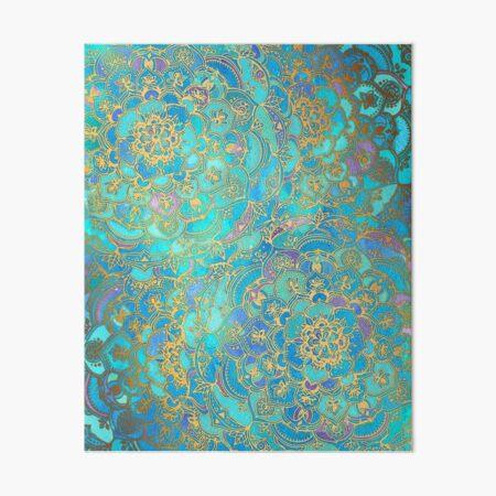 Sapphire & Jade Stained Glass Mandalas Art Board Print
