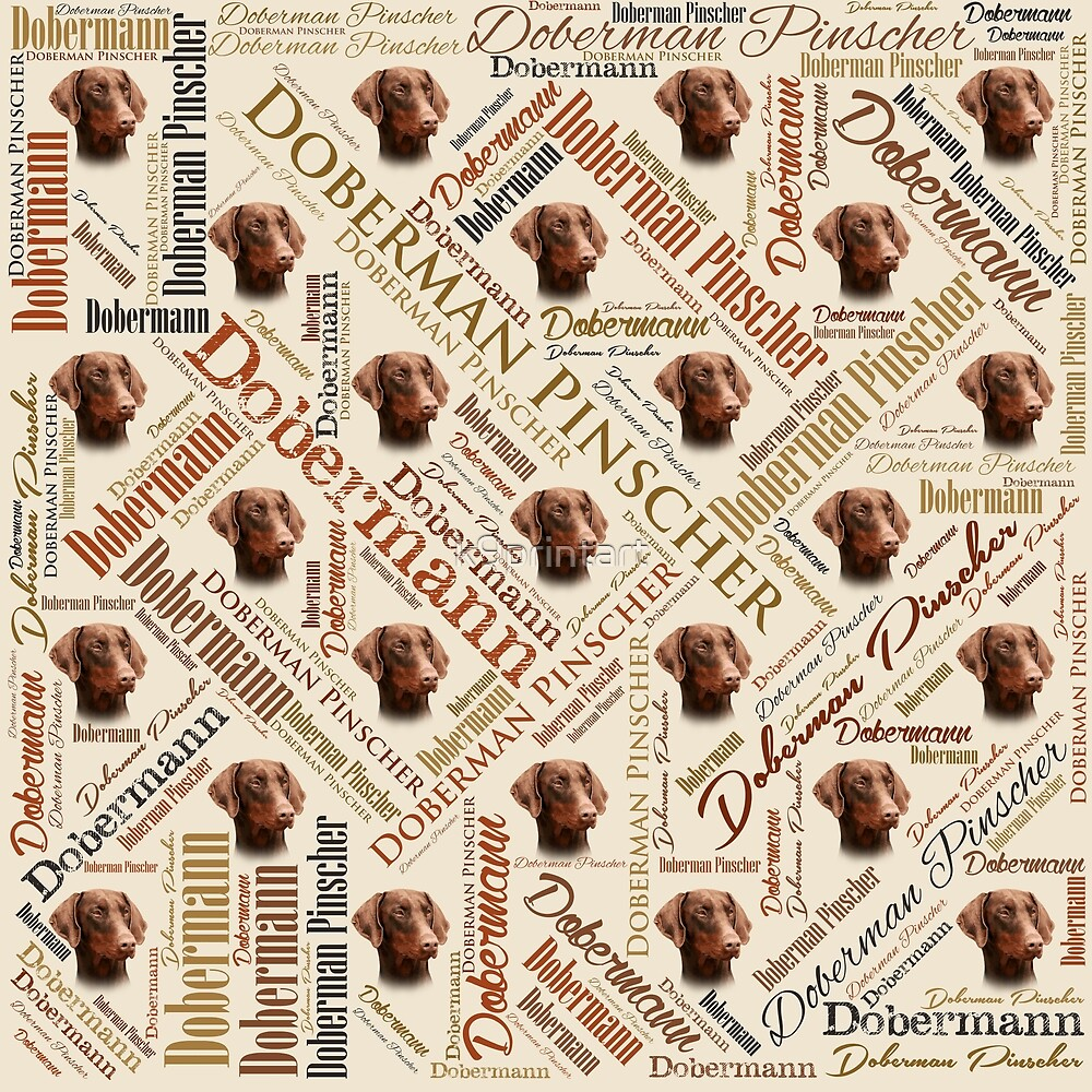 Dobermann Word Art by k9printart