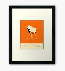 FIBERGLASS ARMCHAIR (1950) Framed Print