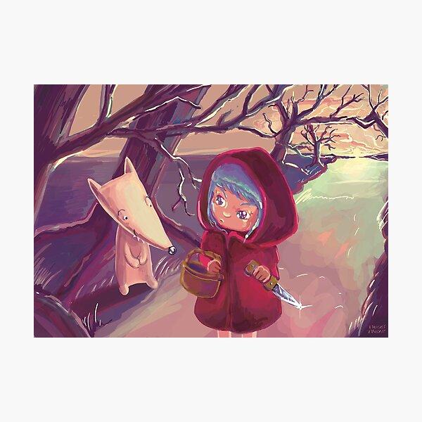 """The Little Black Hood"" Photographic Print"
