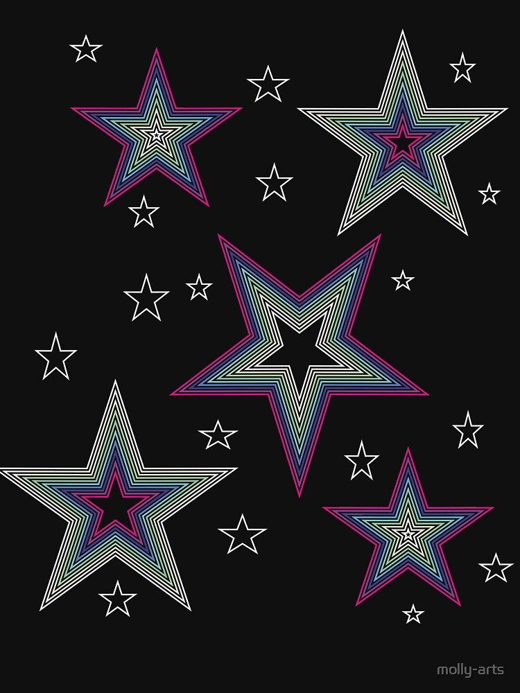 Disco Stars - Design for your Summer Open Air Festival Party Outfit by molly-arts