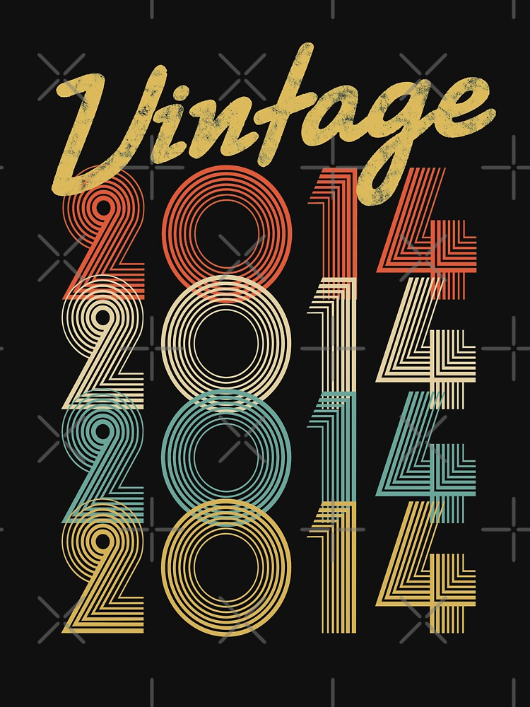vintage retro since 2014 birthday gift by 8fiveone4
