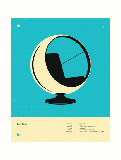 BALL CHAIR (1963) by JazzberryBlue