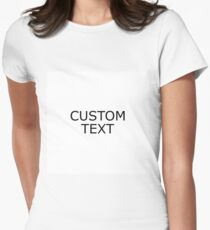 custom Women's Fitted T-Shirt