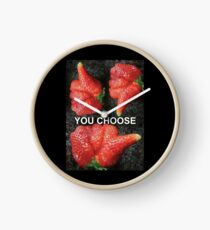 Choose Your Strawberry... Clock