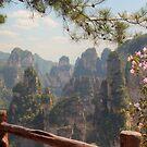 Zhangjiejie Pinnacles With Azaleas by Michael Matthews