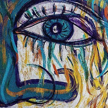 Painted Mural - Eye of a women by alabafruit