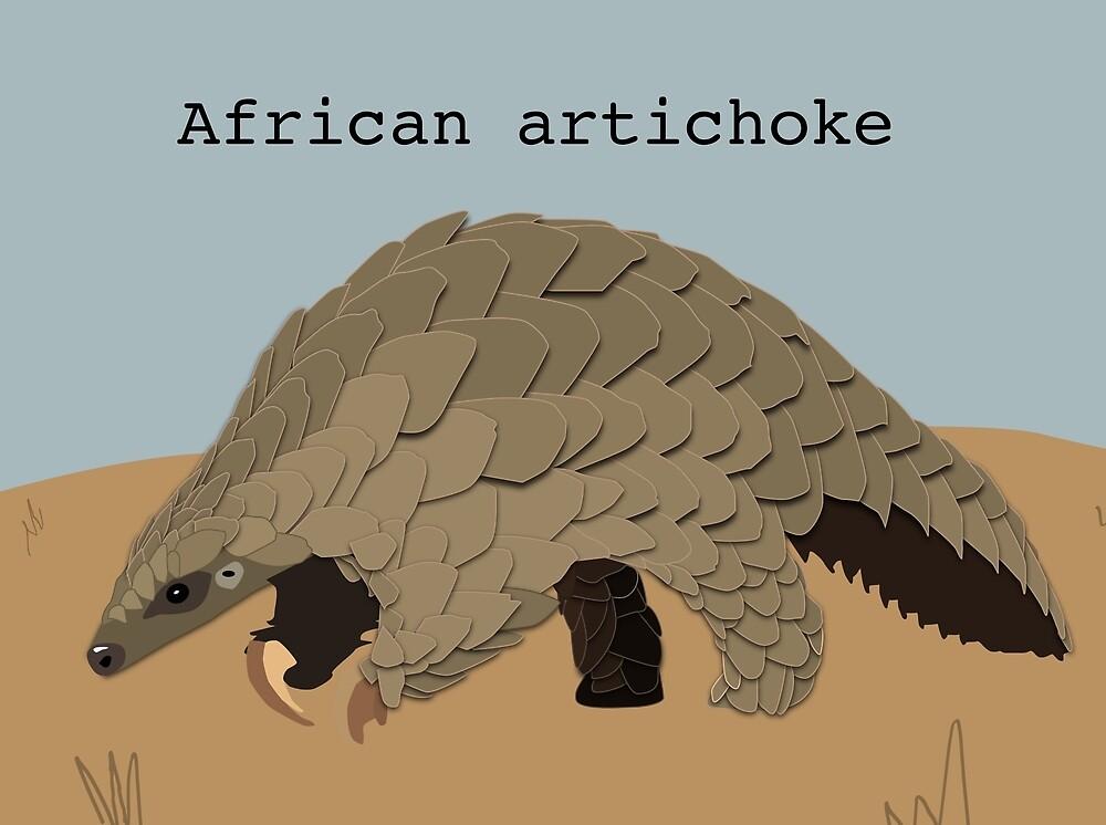 """Pangolin """"African Artichoke"""" by bokloepfer1"""