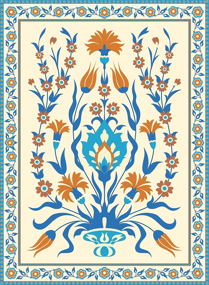 Tree of Life, Traditional Ottoman Floral Motif by IrmaIrma