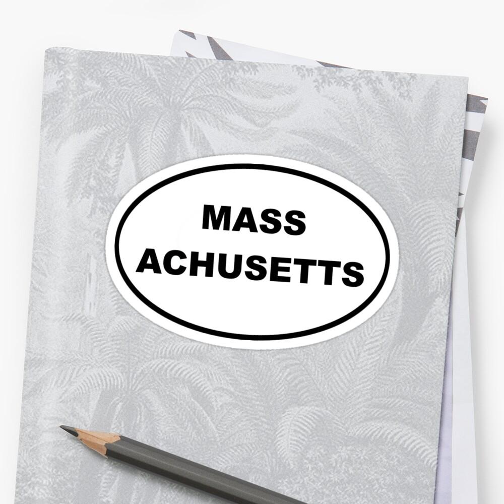 Massachusetts Oval Euro Style Car Sticker by BankrobberGus