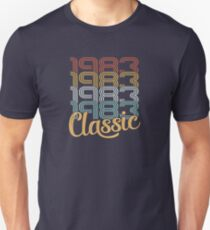 Vintage 1983 Retro Classic - 35 Birthday Slim Fit T-Shirt
