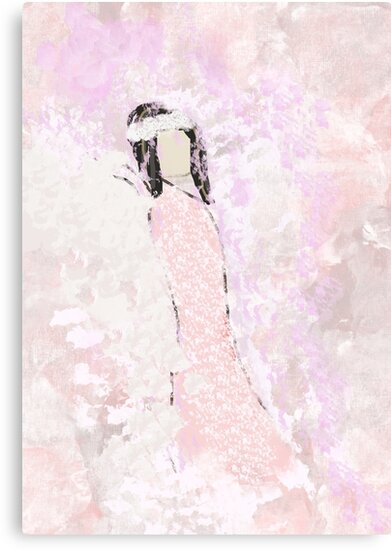 Abstract Angel in Pink by Jessielee72