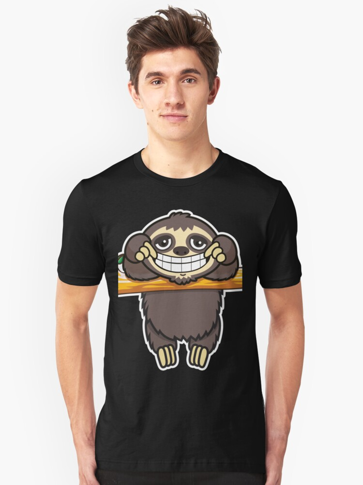 Sloth grin 3 Unisex T-Shirt Front