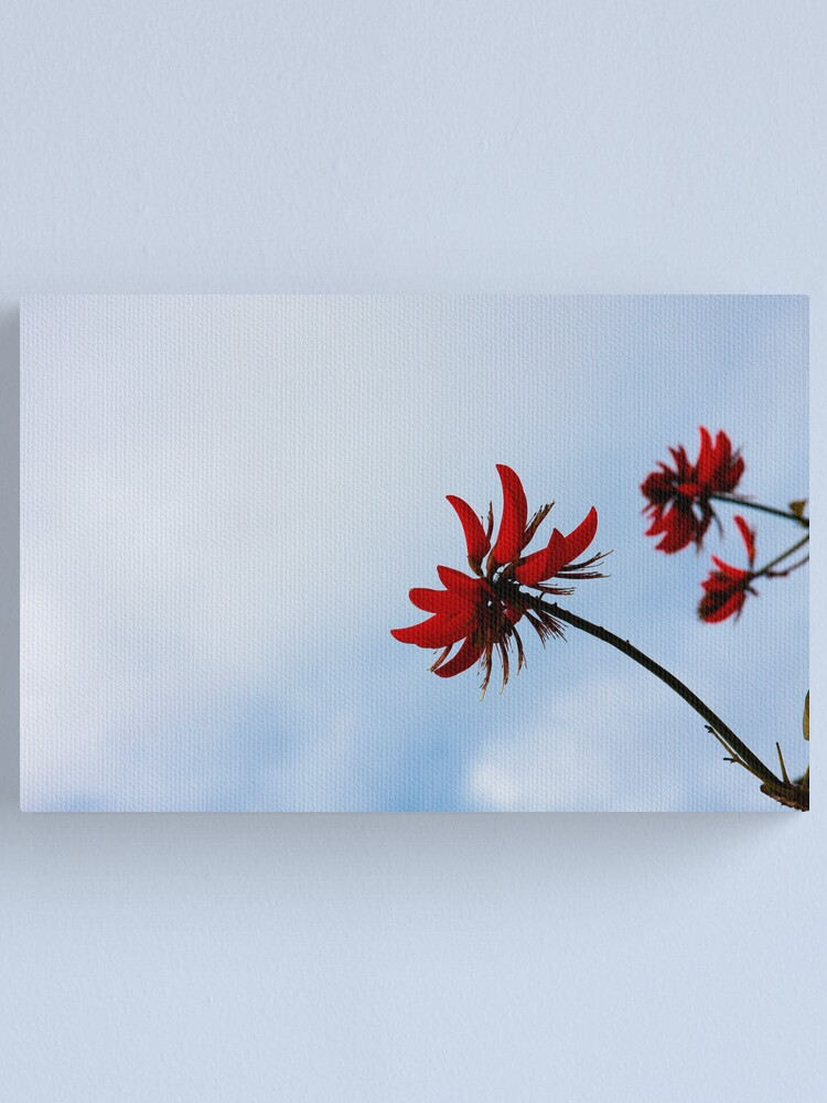 Alternate view of Red like fire Canvas Print