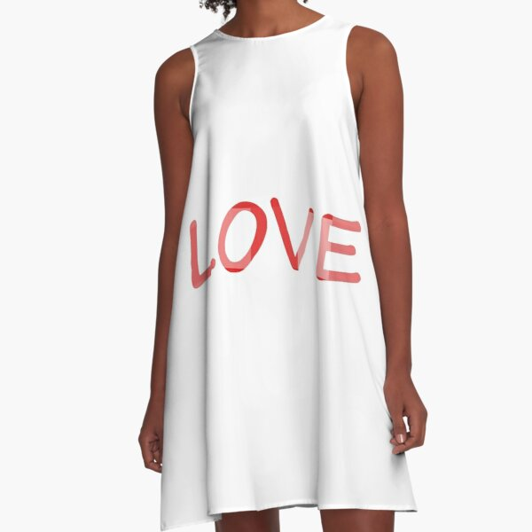 #love, #deepaffection, #fondness, #tenderness, #warmth, #intimacy, #attachment, #endearment A-Line Dress