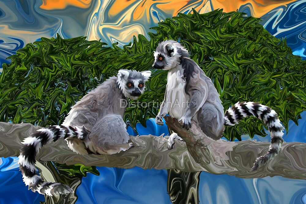 Playful Lemur-ick by DistortionArt