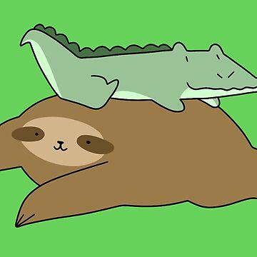 Sloth and Little Alligator  by SaradaBoru