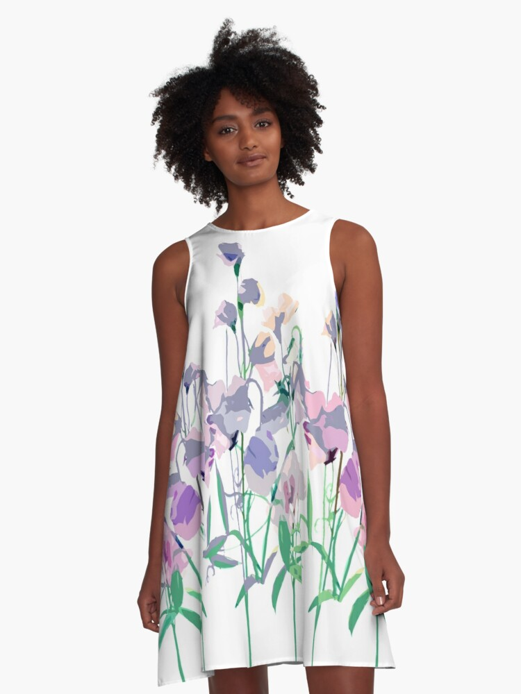 Sweet-pea A-Line Dress Front