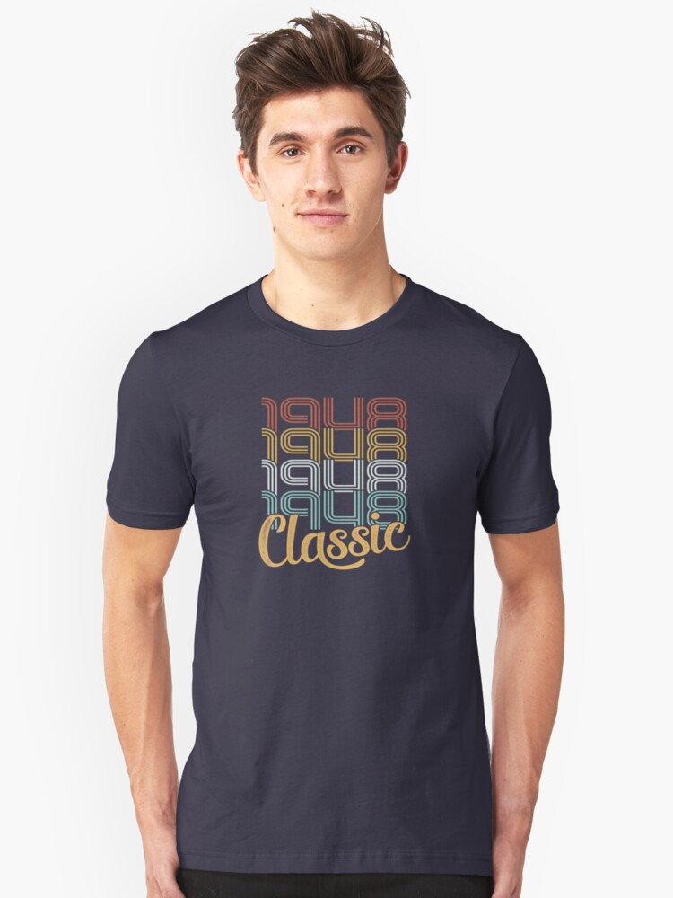 Vintage 1948 Retro Classic - 70 Birthday Unisex T-Shirt Front