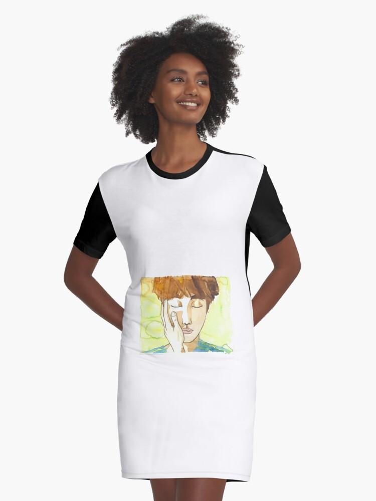 JHope Daydream Slap Graphic T-Shirt Dress Front