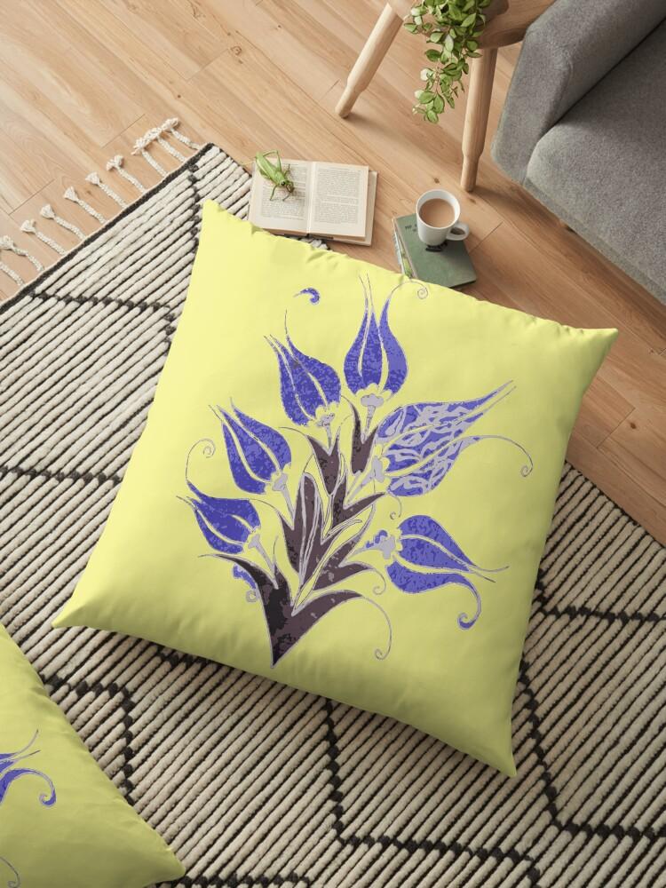 Stylized Blue Ottoman Turkish Tulips by taiche