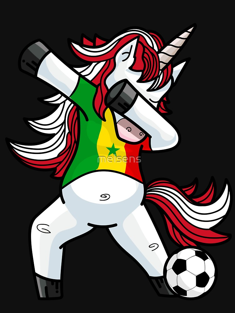 Dabbing Soccer Unicorn Senegal by melsens