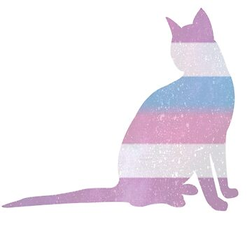 Intersex pride cat by kittykarnstein