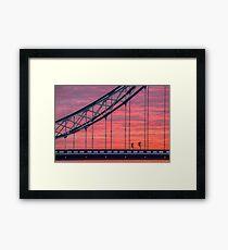 London, sunrise on Tower Bridge Framed Print