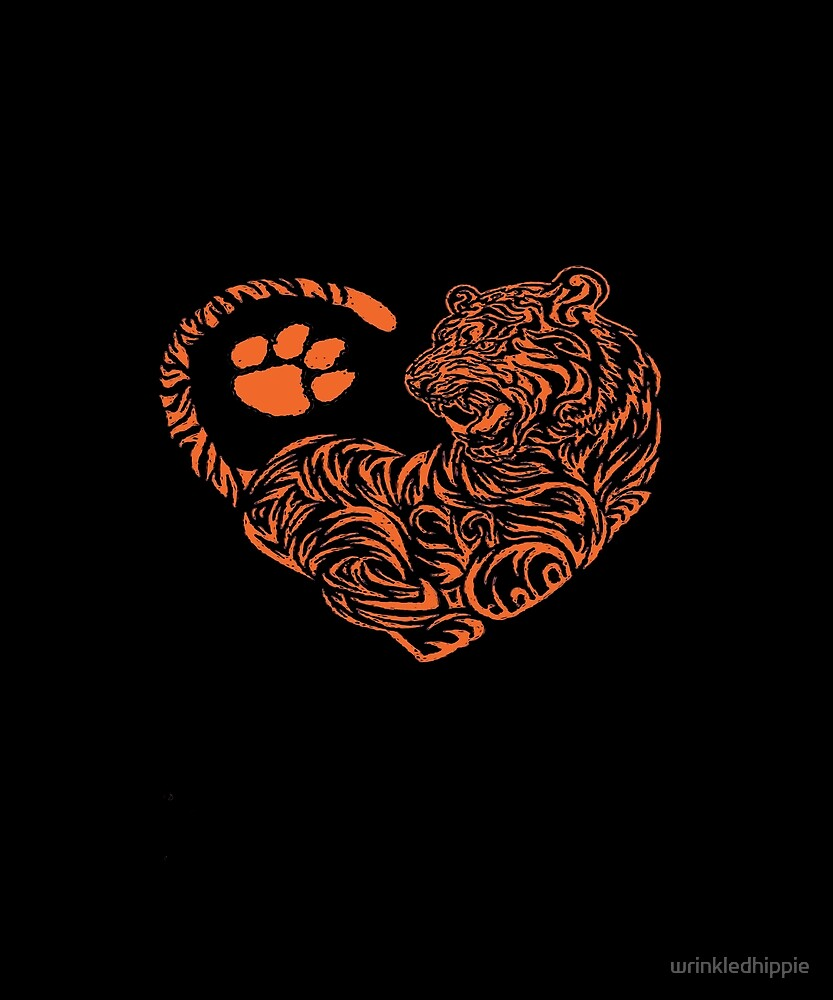 Clemson Girls, Tiger Fans, Go Tigers, Tiger Heart design by wrinkledhippie