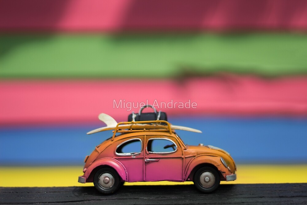Little Cars, Big Planet (Rainbow) by Miguel Andrade