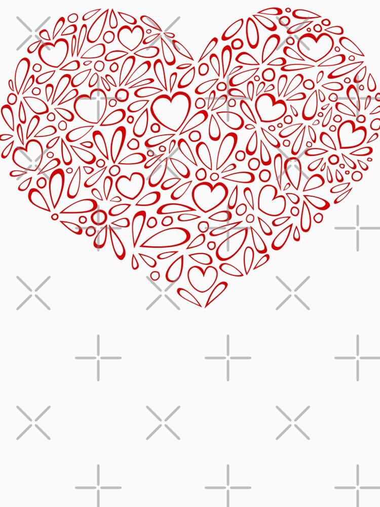 A red heart by MaijaR