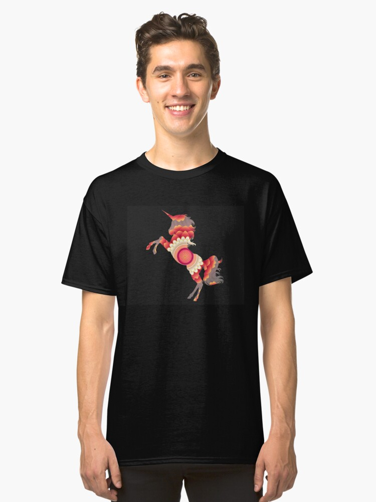 Spiral Unicorn Classic T-Shirt Front