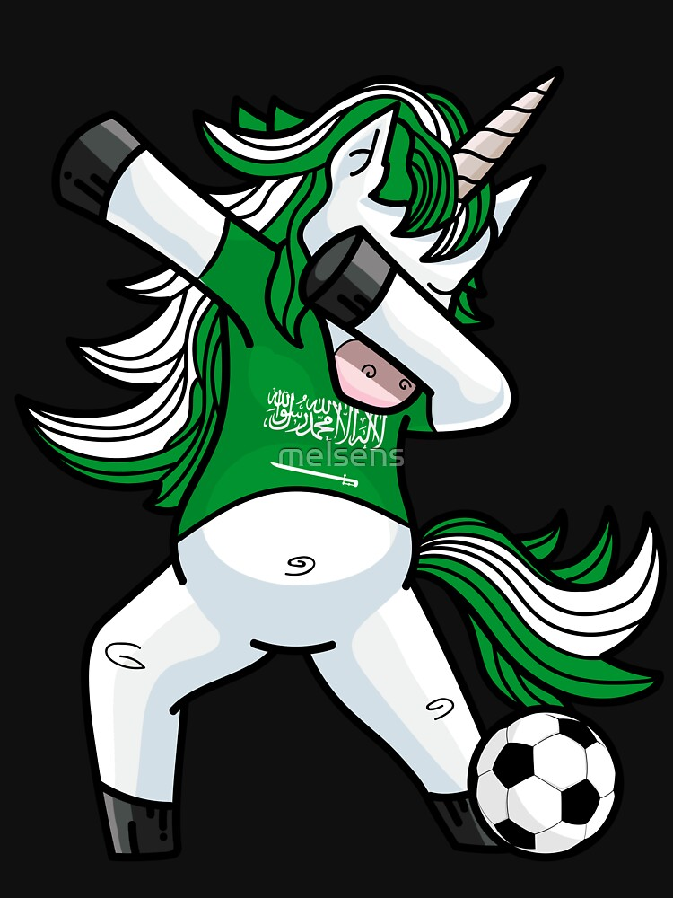 Dabbing Soccer Unicorn Saudi Arabia by melsens