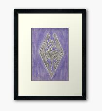 Skyrim elder scrolls: Dragonborn Framed Print
