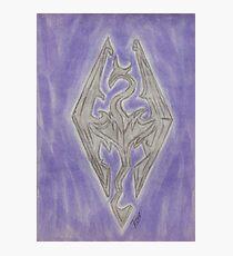 Skyrim elder scrolls: Dragonborn Photographic Print
