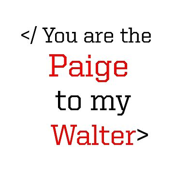 </ You are the Paige to my Walter> by DiesIraeKaa