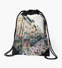 Running of the bulls Drawstring Bag