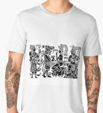 Mayan Bar Scene, maybe this is where The Hard Rock Cafe originated. Men's Premium T-Shirt