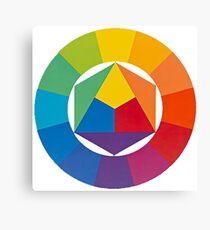 the colour wheel Canvas Print