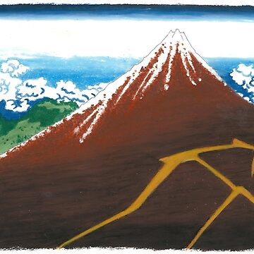 HOKUSAI Mount Fuji by -AllieB-