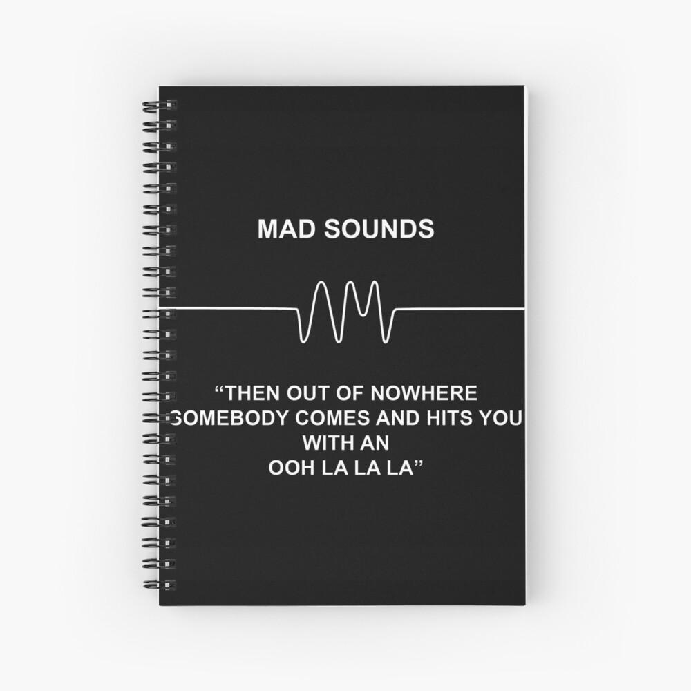 Mad Sounds - Arctic Monkeys AM-Lied Spiralblock