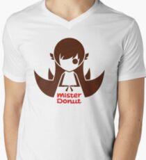 MISTER DONUT Men's V-Neck T-Shirt