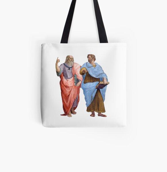 Plato and Aristotle  All Over Print Tote Bag