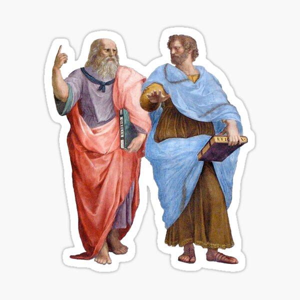 Plato and Aristotle  Sticker