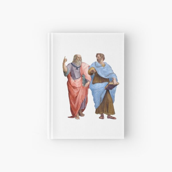 Plato and Aristotle  Hardcover Journal