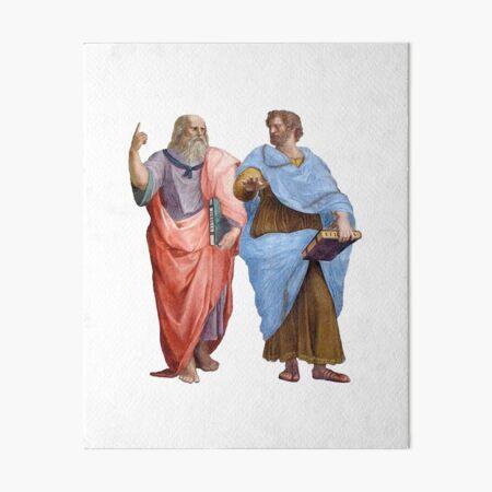 Plato and Aristotle  Art Board Print