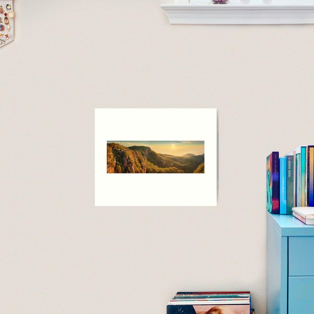 Mt William from Mitchell Plateau, Grampians, Victoria, Australia Art Print