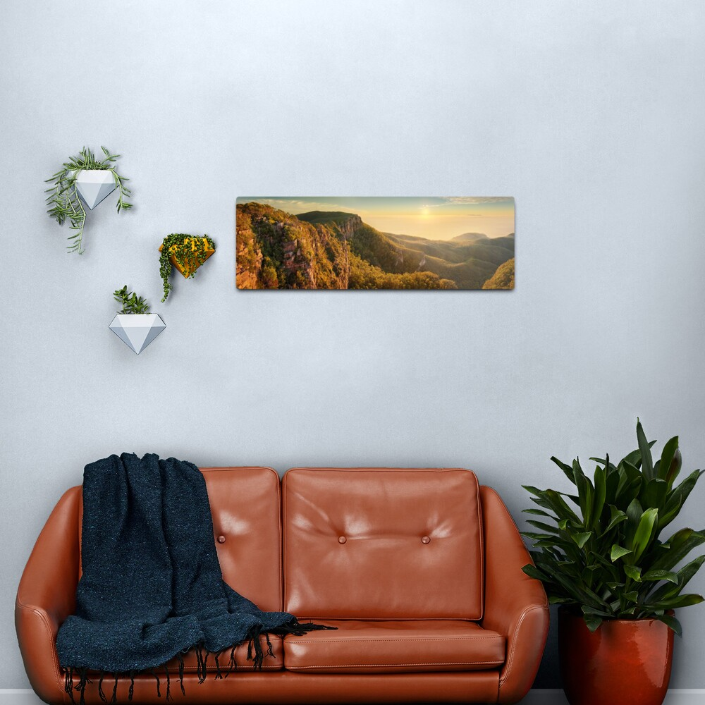 Mt William from Mitchell Plateau, Grampians, Victoria, Australia Metal Print
