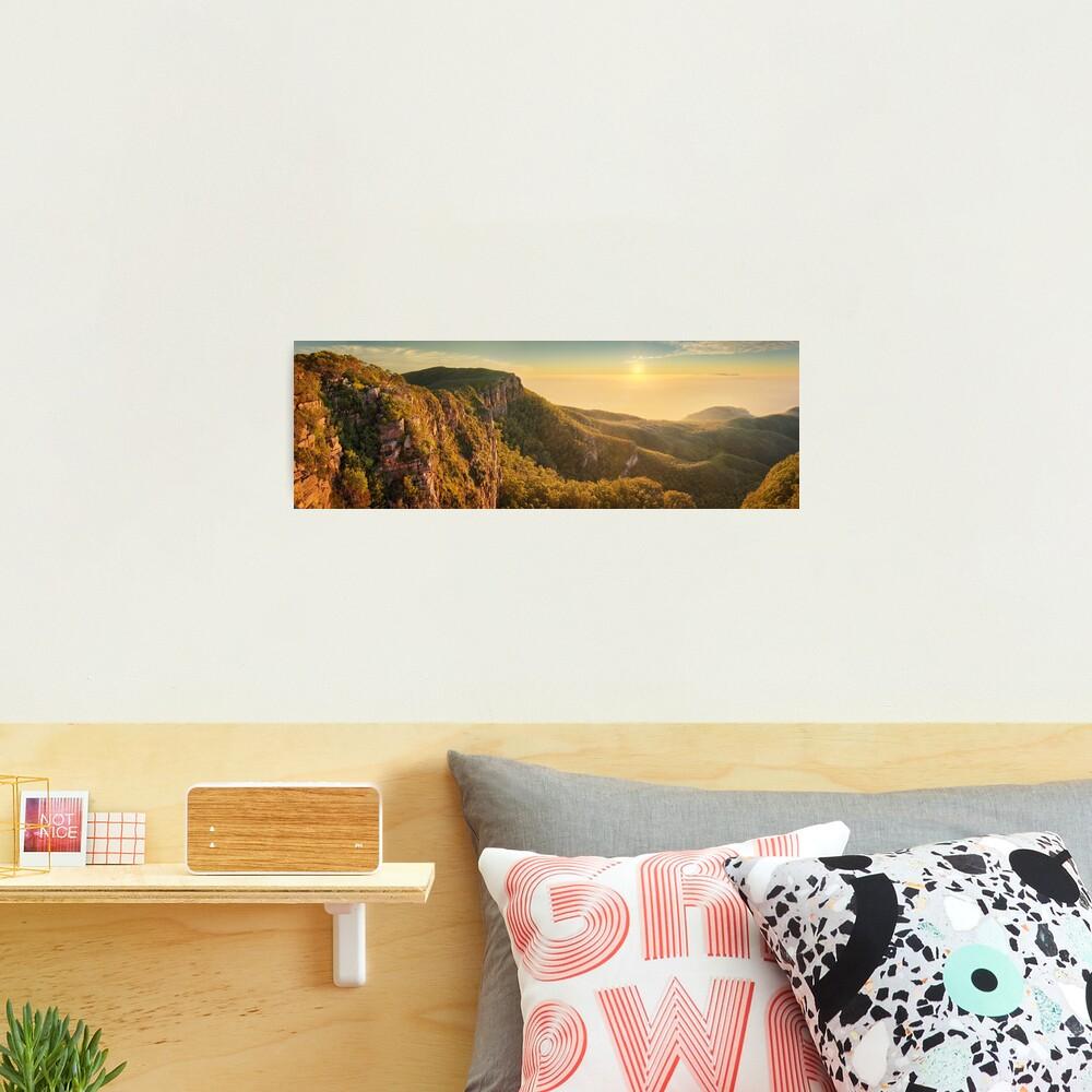 Mt William from Mitchell Plateau, Grampians, Victoria, Australia Photographic Print
